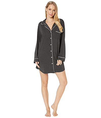 Eberjey Gisele The Boxed Sleepshirt (Charcoal Heather/Sorbet Pink) Women