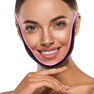 V Line Mask Bandage Reusable Double Chin Reducer Patch Face Slimming Neck Lift Strap Facial Lift Jaw Exerciser Tape Anti-A...