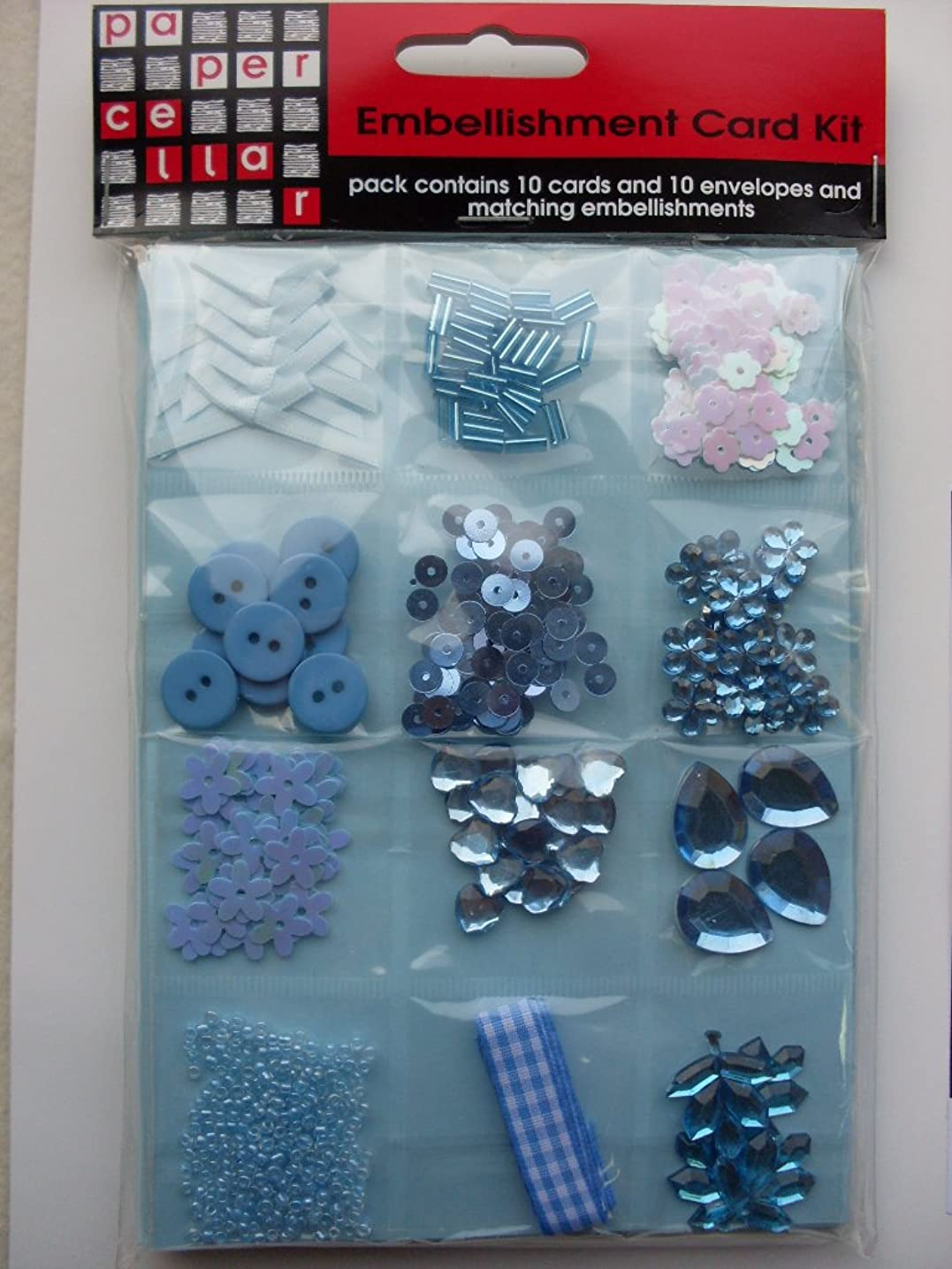 Paper Cellar C6 DIY Card Kit, Blue