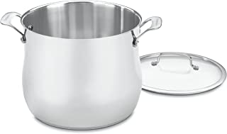 Cuisinart 466-26 Contour Stainless 12-Quart Stockpot with Glass Cover
