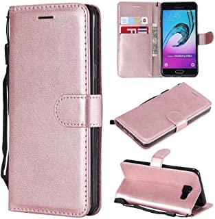 Leather Case Solid Color PU Leather Flip Wallet Bracket All-Inclusive Sleeve Design for Samsung Galaxy A5 2016 A510 (Color...