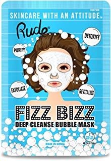 (6 Pack) RUDE Fizz Bizz Deep Cleanse Bubble Mask (並行輸入品)