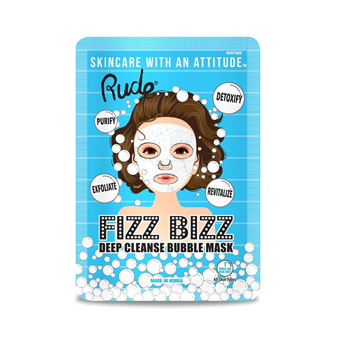 グラフィック感嘆取り戻す(6 Pack) RUDE Fizz Bizz Deep Cleanse Bubble Mask (並行輸入品)