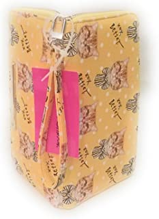 XOX Betsey Orange Tabby with Bow Z/A Wallet Detachable Strap Mustard Background