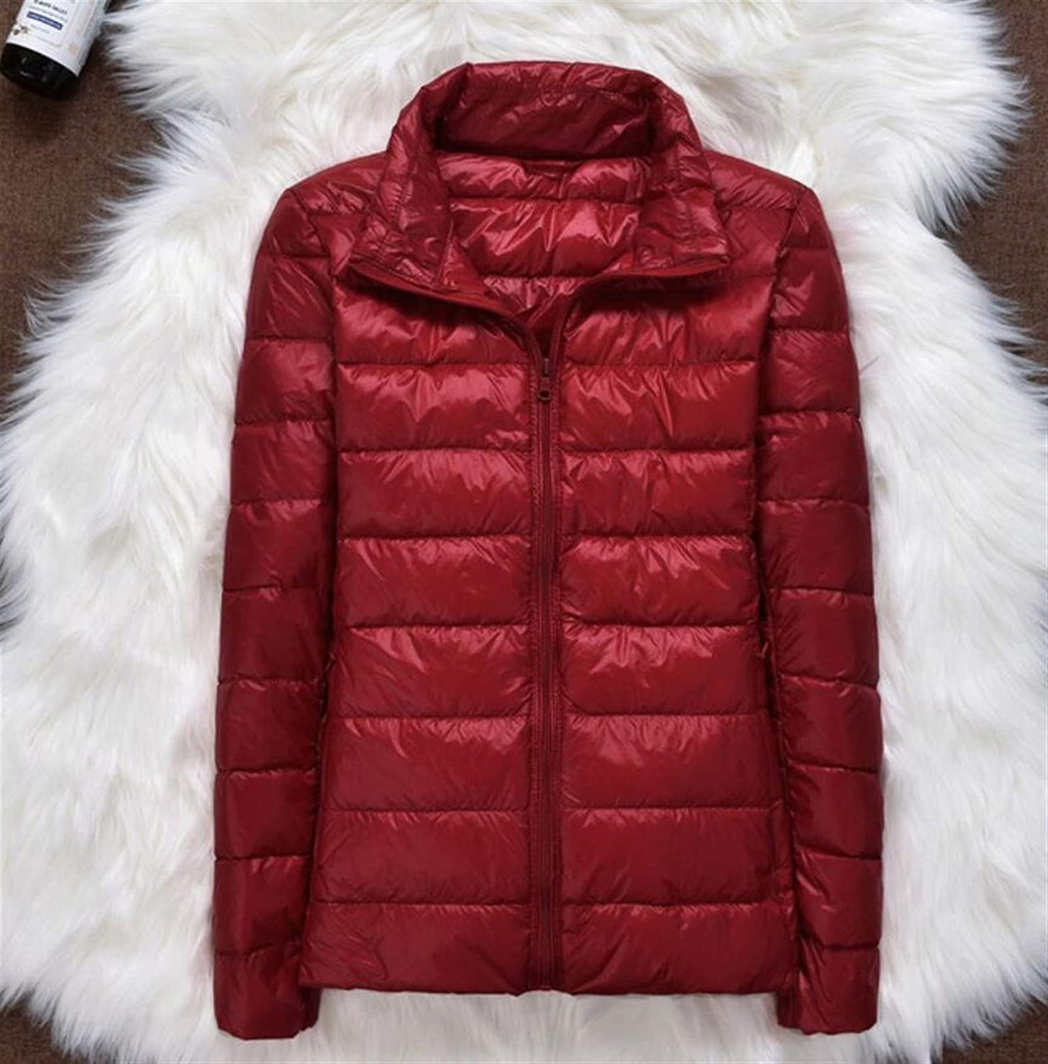 Thickened Down Jacket Leather Plaid New Ultra Today's only Super sale Coat Winter Light