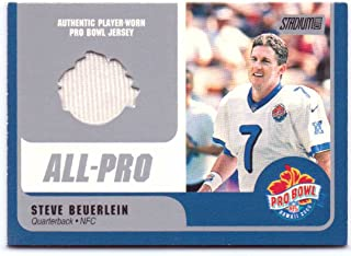 Steve Beuerlein 2000 Stadium Club Pro Bowl Game Worn Jersey #SB-QB - Carolina Panthers