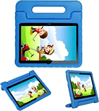 i-original Compatible with Huawei MediaPad T3 10-in Case,Shock Proof Honor Play Pad 2 9.6-in EVA Case for Kids Bumper Cover Handle Stand,Convertible Handle Lightweight Protective Cover (Blue)