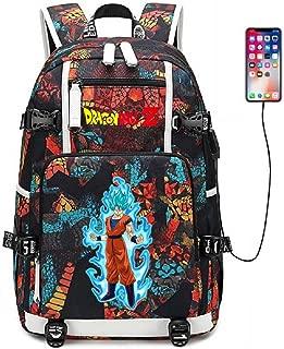 YOYOSHome Anime Dragon Ball Z Cosplay Goku Bookbag Daypack Laptop Bag Backpack School Bag with USB Charging Port