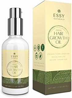 Natural Hair Growth Oil with Caffeine and Biotin – Hair Growth Oil for Stronger,..