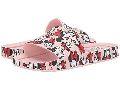 Mini Melissa Mel Beach Slide Mickey and Friends (Little Kid/Big Kid) (Pink/Minnie) Girl