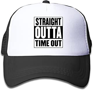 Straight Outta Timeout Trucker Hat Adjustable Back Mesh Cap For Baby