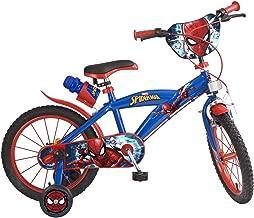 Toimsa 876 Bike Boy - Spiderman - 5 tot 8 jaar, 16 inch, Rood