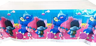 Bsstr Trolls Birthday Party Supplies Table Cover 70 x 42 Inch for Baby Shower Birthday Party Decoration Supplie