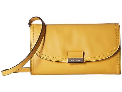 Cole Haan Lock Smartphone Crossbody (Sunset Gold) Handbags
