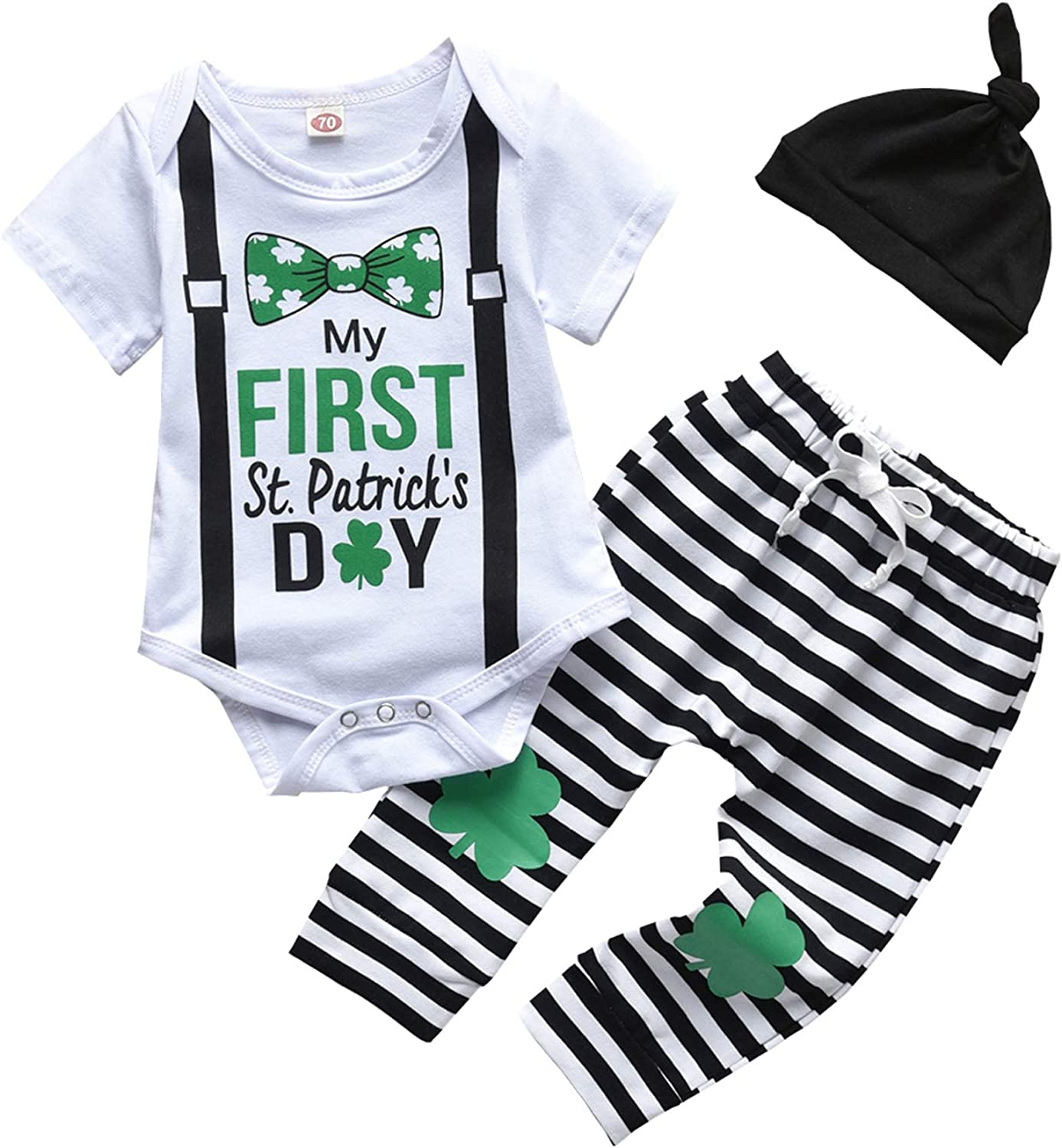 Qpap My First St.Patrick's/Easter Day Clothes Infant Baby Boy Ro