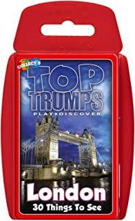 Holland Plastics Original Brand TOP Trumps - London 30 Things to See! Perfect for Indoors, Travelling, Camping and Holidays