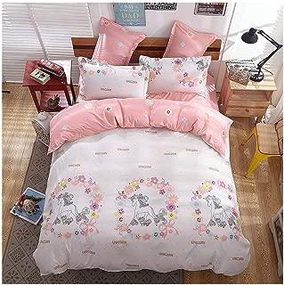 KFZ Girls Magic Unicorn Bed Set [4pcs Twin Size Bedding 59
