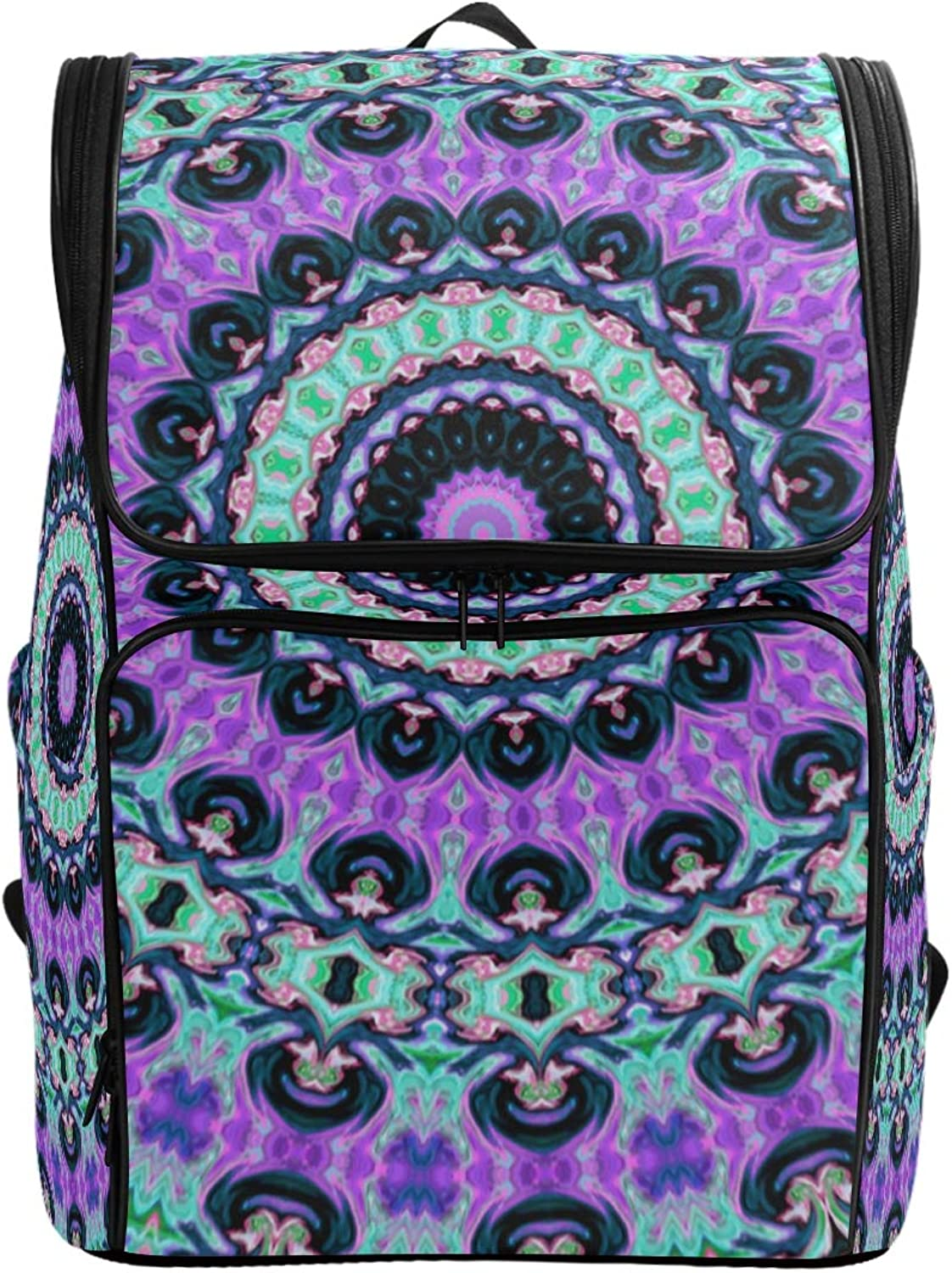 FANTAZIO Abstract Art colorful Floral Laptop Outdoor Backpack Travel Hiking Camping Rucksack Pack, Casual Large College School Daypack