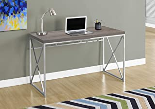 "Monarch Specialties Computer Desk - Contemporary Home & Office Desk - Scratch-Resistant - 48"" L (Dark Taupe)"