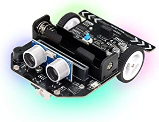 Freenove Micro:Rover Kit for BBC micro:bit (Not Contained), Obstacle Avoidance, Light-tracing, Line-tracking, Remote Contr...