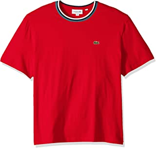 Lacoste Men's S/S Striped TOP Jersey T-Shirt Shirt, red, L