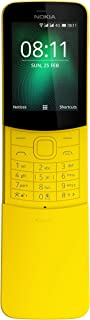 Nokia 8110 4G Duos AT&T Locked KaiOS Phone - Banana Yellow