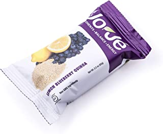 JoJe´ Bars - 12 Bars, 1 Case - Lemon Blueberry Quinoa - Gluten Free Energy Bar Made With All Natural, Non-GMO Ingredients