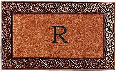 "Calloway Mills 10003BRNZE Home & More Prestige Doormat, Monogrammed Letter E, 18"" x 30"" x 1"", Natural/Bronze"