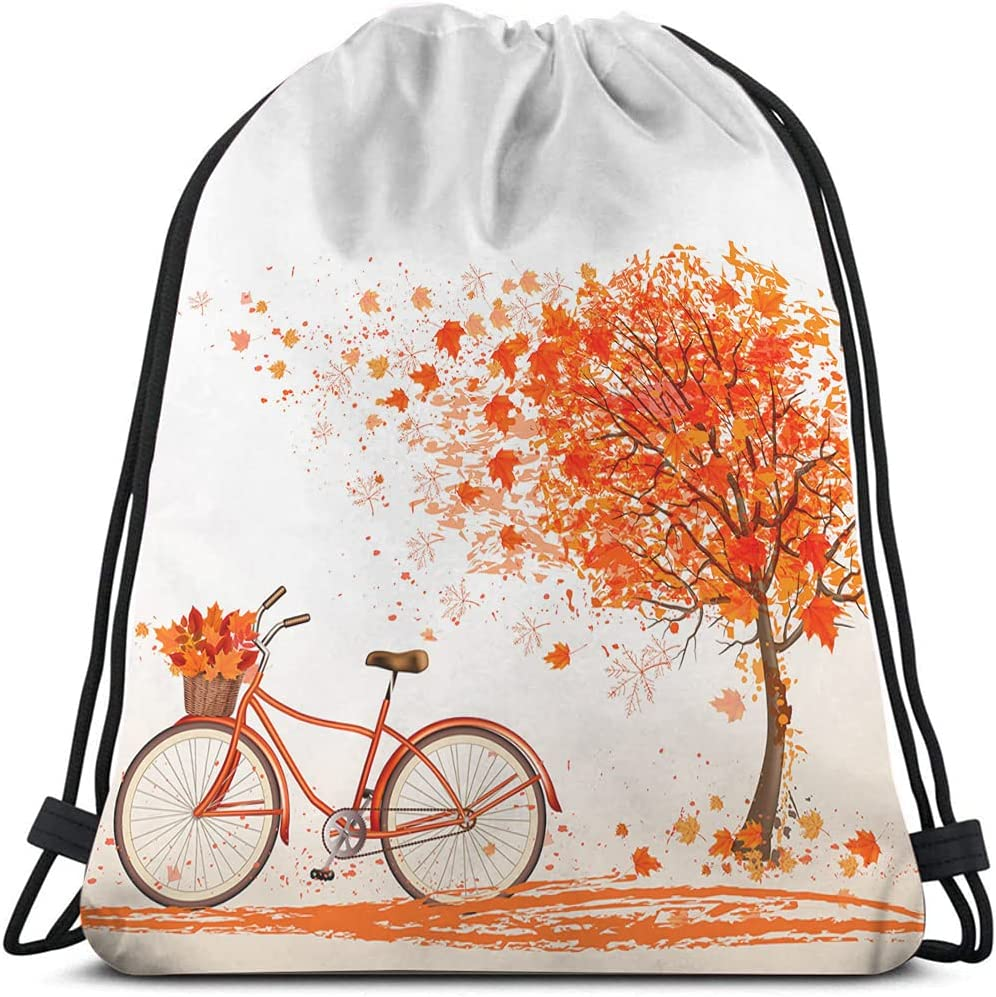 Beabes Kansas City Mall Autumn Tree Very popular Drawstring Bags Leaves Bag Backpack Maple Fal