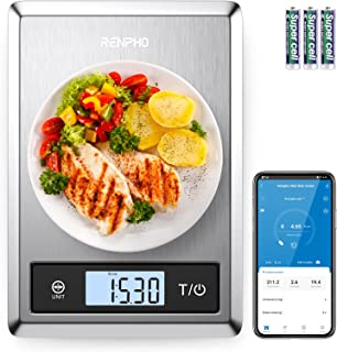 RENPHO Digital Food Scale, Kitchen Scale for Baking, Cooking and Coffee with Nutritional Calculator for Keto, Macro, Calor...
