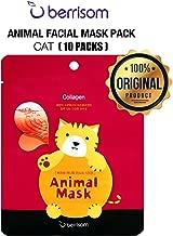 (10 SHEETS) BERRISOM Animal Mask Series Facial Mask Pack (Cat) K-Beauty Facial Care