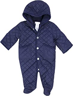 Polo Baby Quilted One Piece Snowsuit (9 Months, Blue)