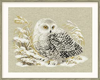 RIOLIS R1241 Counted Cross Stitch Kit, 17.75 by 13.75-Inch, White Owl