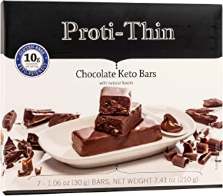 Chocolate Keto Bars - Low Carb - Healthy Fats - 10g Protein - Perfect Keto Snack Bar - Gluten Free Breakfast Bar - 7 Bars ...
