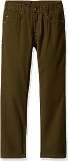 Charlie Rocket Little Boys' Straight Leg Twill Pants (Toddler/Kid) - Olive - 5