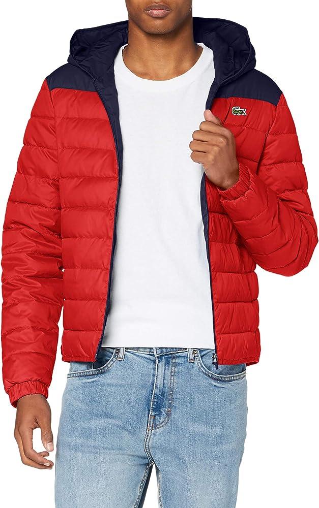 Lacoste,giubotto,giacca trapuntata resistente all`acqua, con cappuccio,per uomo BH1531