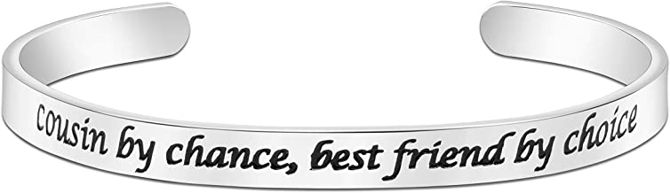 Joycuff Friendship Bracelet Best Friend Jewelry Gift Inspirational Cuff Bangle Engraved Birthday Present