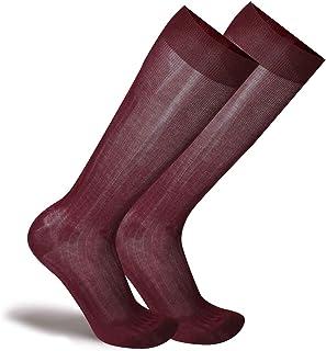 SANGIACOMO WE LOVE SOCKS Ramses - Calze da Uomo Lunghe in Filo Scozia di qualità superiore, a coste.