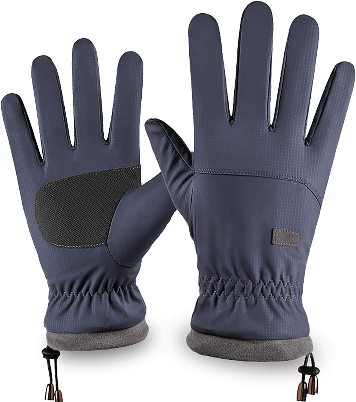 Winter Men's Gloves Inner Fleece Warm Windproof Waterproof Riding Gloves with Touch Screen for Man Woman