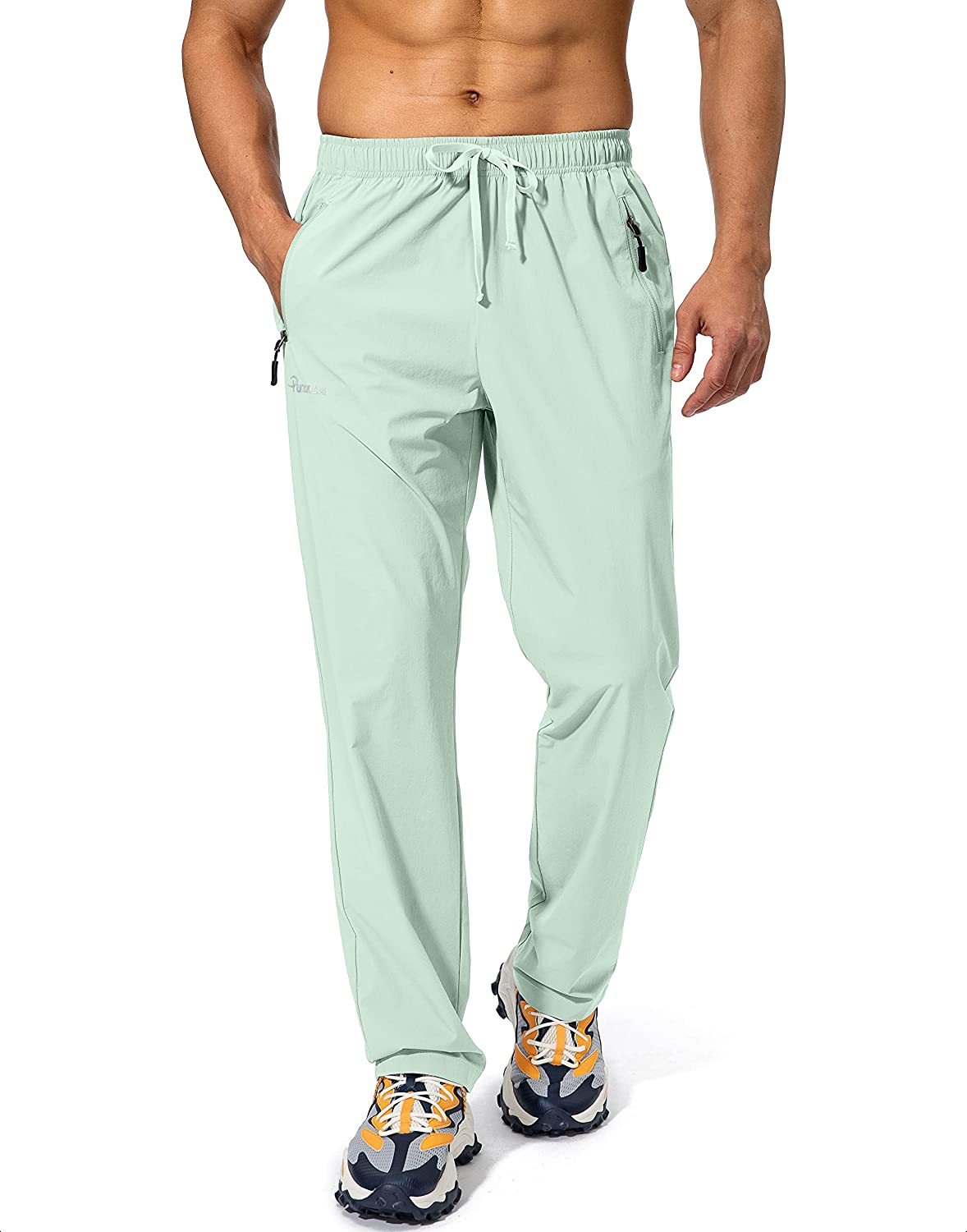Pudolla Men's Workout Recommended Max 66% OFF Athletic Pants Waist Jogging Runni Elastic