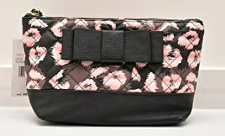 Betsey Johnson Cosmetic Case Bag Wristlet Makeup Black Blush