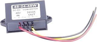 KNACRO 36V 48V (30-58V) to 24V 2A 48W DC-DC Waterproof Boost Converter Automatic Step Down Voltage Regulator Module Car Po...