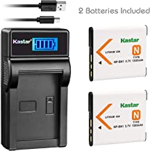 Kastar Battery (X2) & Slim LCD USB Charger for Sony NP-BN1 NPBN1 BC-CSN and Cyber-Shot DSC-WX100 DSC-WX150 DSC-WX200 DSC-WX220 DSC-WX30 DSC-WX5 DSC-WX50 DSC-WX60 DSC-WX7 DSC-WX70 DSC-WX80 DSC-WX9