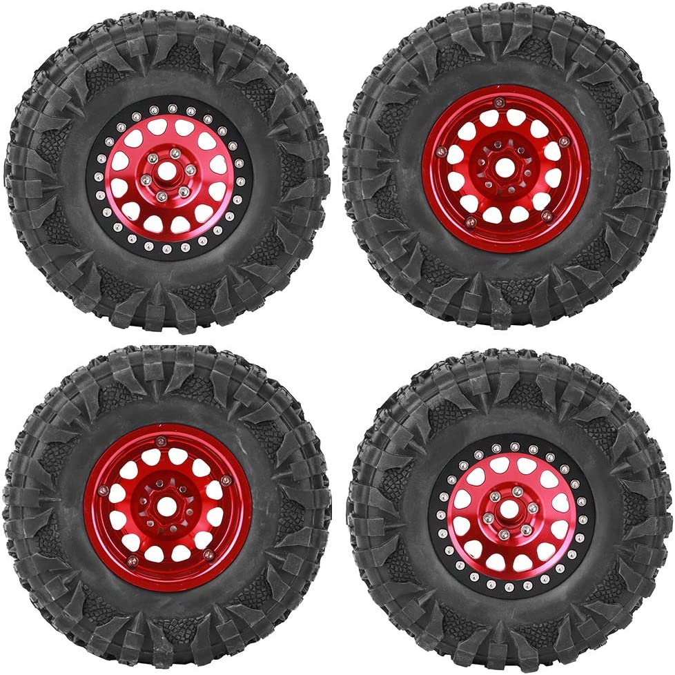 4pcs lowest price RC Rubber Tire Crawler 2.2-inch Wheel Metal Hex Over item handling ☆ Hub Access