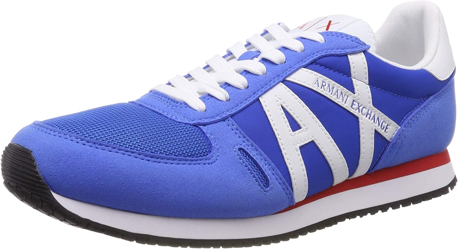 Armani Exchange Men's's Lace Up Sneaker with Logo Low-Top
