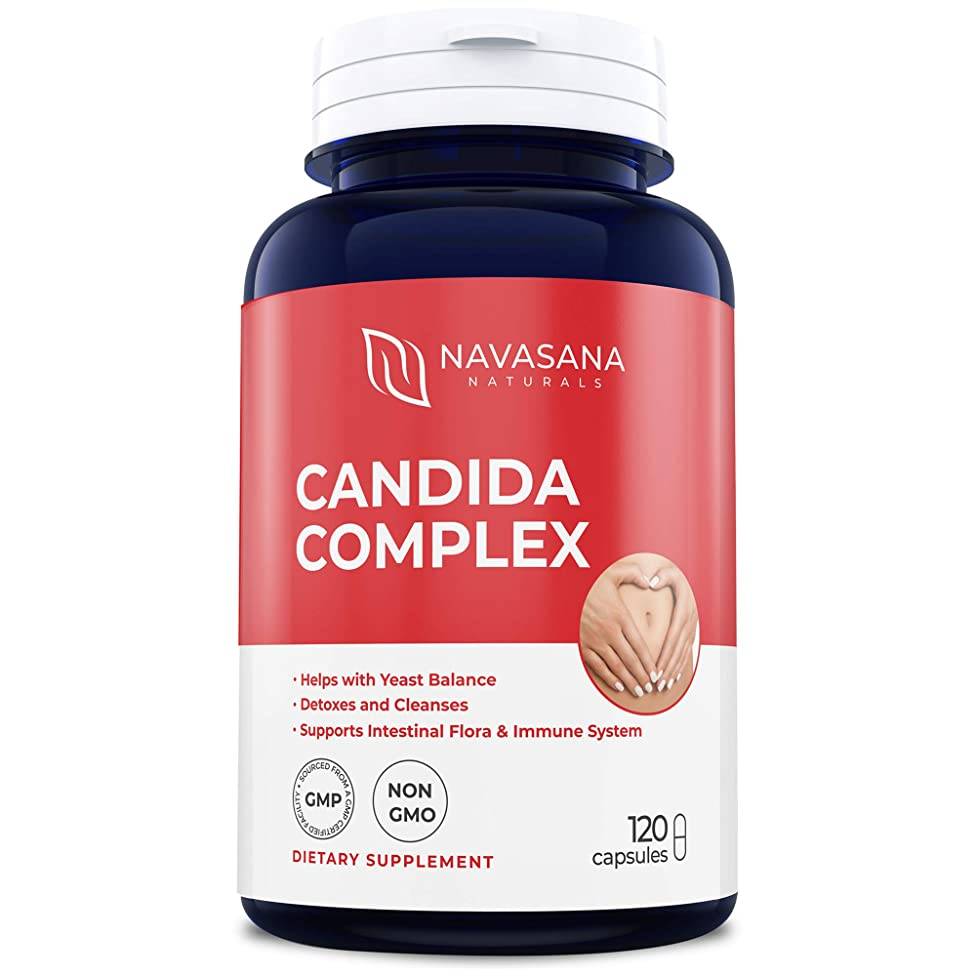 Candida Cleanse Extra Strength 120 Capsules for Yeast Infection Treatment: Herbs & Enzymes to Reduce Unpleasant Side Effects from Yeast Die-Off & Detox - Effective Natural Supplement for Women and Men