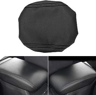 MLING Mittelkonsole Armlehnen Abdeckung Kompatibel mit Golf 7 mk7 2013 2020 Armlehne Schutz (Schwarz)