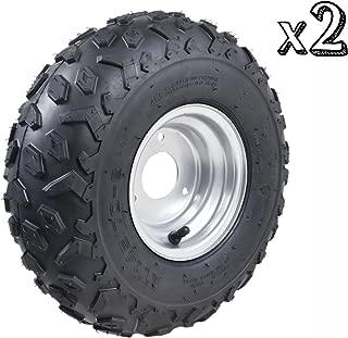 TDPRO 145/70-6 ATV Go Kart Quad Tires and Rims   4PR Wheels (Set of 2)