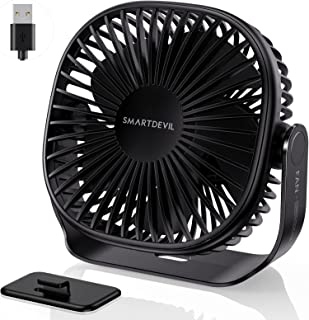 SmartDevil-bureauventilator, USB-bureauventilator, geruisloze USB-ventilator, draagbare bureautafelventilator met 3 snelhe...