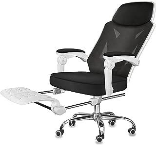 オフィスチェア ゲーミングチェア デスクチェア パソコンチェア ハイバック 連動肘 メッシュ 通気性 人間工学 リクライニング式 椅子 静音キャスター 360°回転可 多機能 フットレスト付き